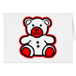 jGibney blanco rojo del oso de peluche El MUSEO Za Felicitación