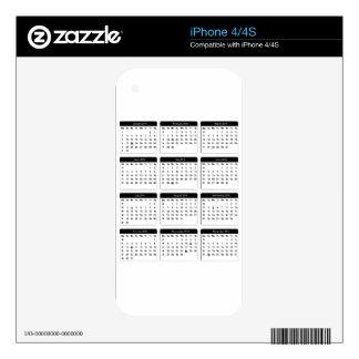 jGibney de 2016 calendarios los regalos de Zazzle Calcomanías Para iPhone 4S