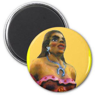 jGibney femenino 2002 del moreno del ARTE de Albuq Imán De Nevera