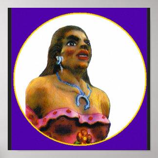 jGibney femenino 2002 del moreno del ARTE de Albuq Poster
