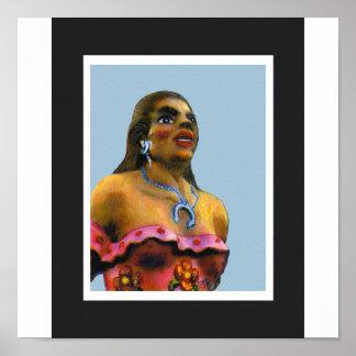 jGibney femenino 2002 del moreno del ARTE de Albuq Posters