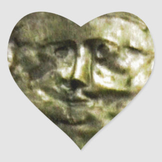 jGibney romano T de Inglaterra 1986 Mask1 Pegatina En Forma De Corazón
