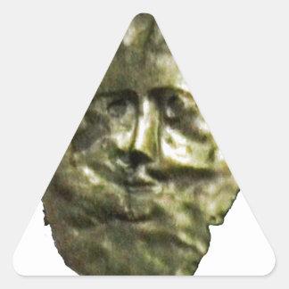 jGibney romano T de Inglaterra 1986 Mask1 Pegatina Triangular