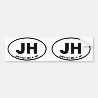 JH Jackson Hole Wyoming Etiqueta De Parachoque