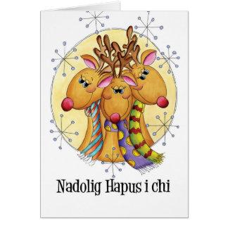 Ji de Nadolig Hapus I - felices Navidad Galés - Tarjeta De Felicitación