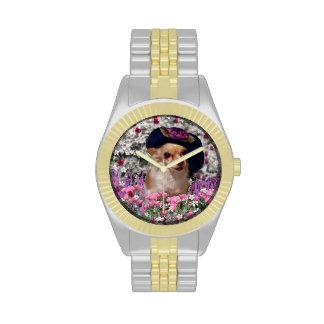 Ji en flores perro de perrito de la chihuahua go relojes de pulsera