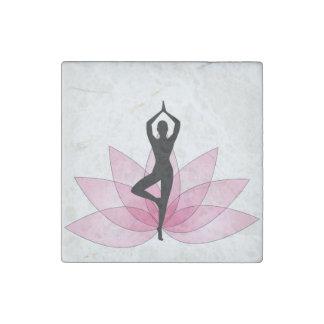ji hermosa rosada de la energía del chakra de la imán de piedra