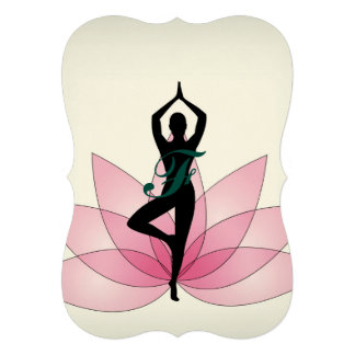"""ji hermosa rosada de la energía del chakra de la invitación 5"""" x 7"""""""