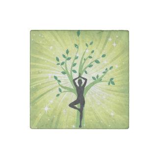Ji hermosa verde de la energía del chakra de la imán de piedra