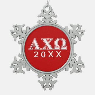 Ji letras blancas y rojas de Omega de Alphi Adorno