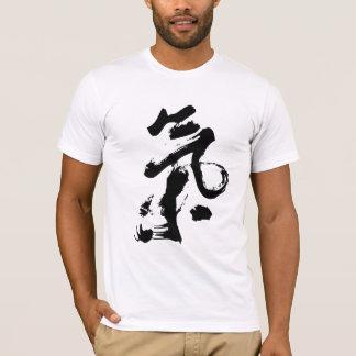 Ji o Qi en arte chino del movimiento del cepillo Playera