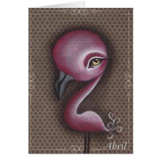 Jiao Pink Flamingo Card