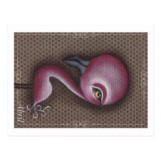 Jiao Pink Flamingo Postcard