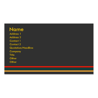 Jiao Profile Card #1 Double-Sided Standard Business Cards (Pack Of 100)