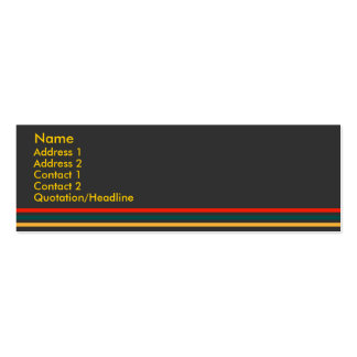 Jiao Profile Card #1 Double-Sided Mini Business Cards (Pack Of 20)