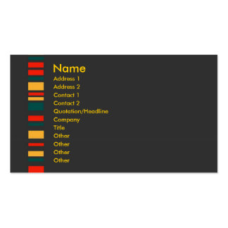 Jiao Profile Card #3 Double-Sided Standard Business Cards (Pack Of 100)