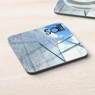 Jib Sail and Mast Picture Drink Coaster