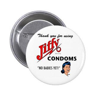 Jiffy Brand Condom Gear! Pins
