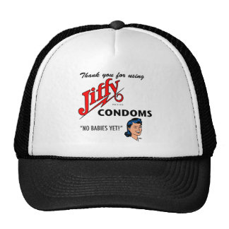 Jiffy Brand Condom Gear! Trucker Hats