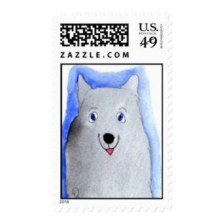 Jiffy Dog Postage Stamp