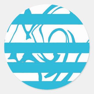 jig-housed classic round sticker
