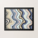 Jig Saw Puzzle - Abstract Repeat Patterns Framed