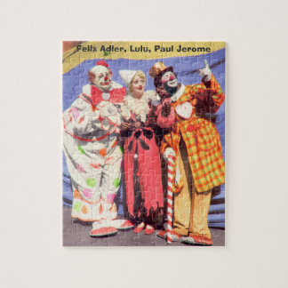 Jig Saw Puzzle - Vintage Circus Clowns