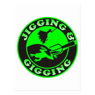 JIGGING & GIGGING POSTCARD