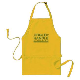 Jiggle the Handle Plumbing Adult Apron