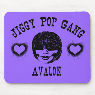Jiggy Pop Gang Avalon Creepy Grunge Character Mouse Pad