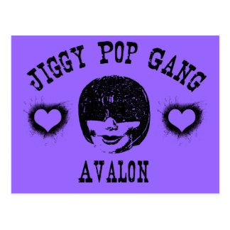 Jiggy Pop Gang Avalon Creepy Grunge Character Postcard