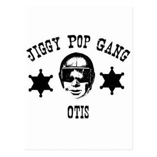 Jiggy Pop Gang Otis The Police Man Cop Postcard