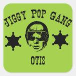 Jiggy Pop Gang Otis The Police Man Cop Square Sticker