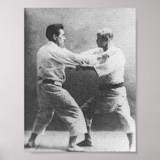 Jigoro Kano y Kyuzo Mifune Póster