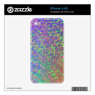 Jigsaw Chaos Abstract iPhone 4S Skin