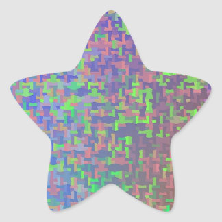 Jigsaw Chaos Abstract Star Sticker