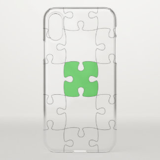 Jigsaw Custom iPhone X Clearly™ Deflector Case
