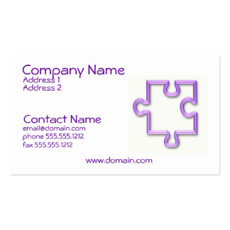 Jigsaw Cutout Business Card