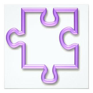 "Jigsaw Cutout Invitation 5.25"" Square Invitation Card"