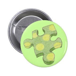 Jigsaw Green Piece Button