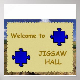 Jigsaw Hall Sign Poster