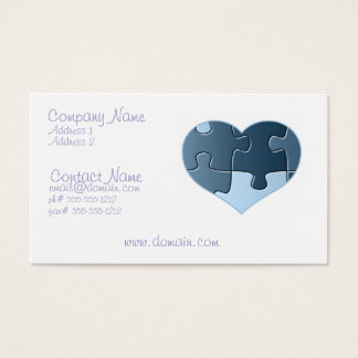 Jigsaw Heart Business Card