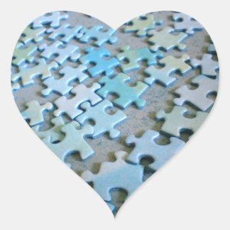Jigsaw heart sticker