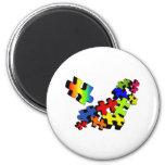 Jigsaw Jumble 2 Inch Round Magnet