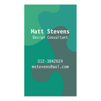 Jigsaw Ocean Tones Business Card