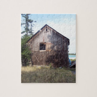 Jigsaw photo puzzle featuring an old dairy barn.