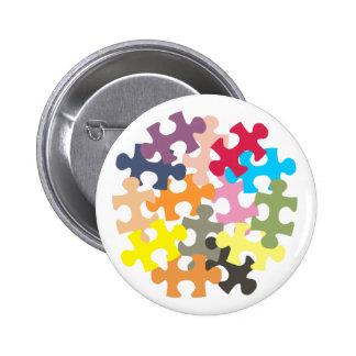 Jigsaw Pieces Button Badge