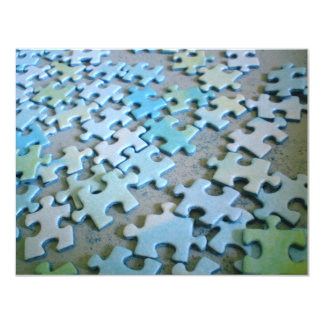 Jigsaw Pieces 4.25x5.5 Paper Invitation Card