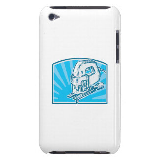 Jigsaw Power Tool Woodcut Retro Barely There iPod Cover