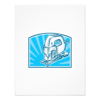 Jigsaw Power Tool Woodcut Retro Personalised Announcements